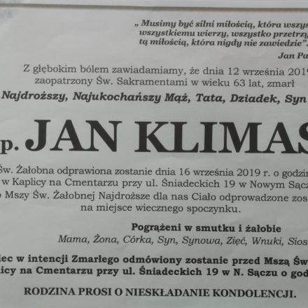Śp. Jan Klimas