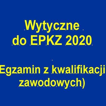 Wytyczne dla zdających EPKZ 2020